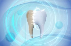 Dental care tooth. Whitening toothpaste ad. Graphic concept for your design